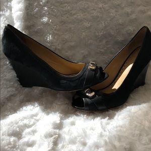 Coach peep toe  wedge heel